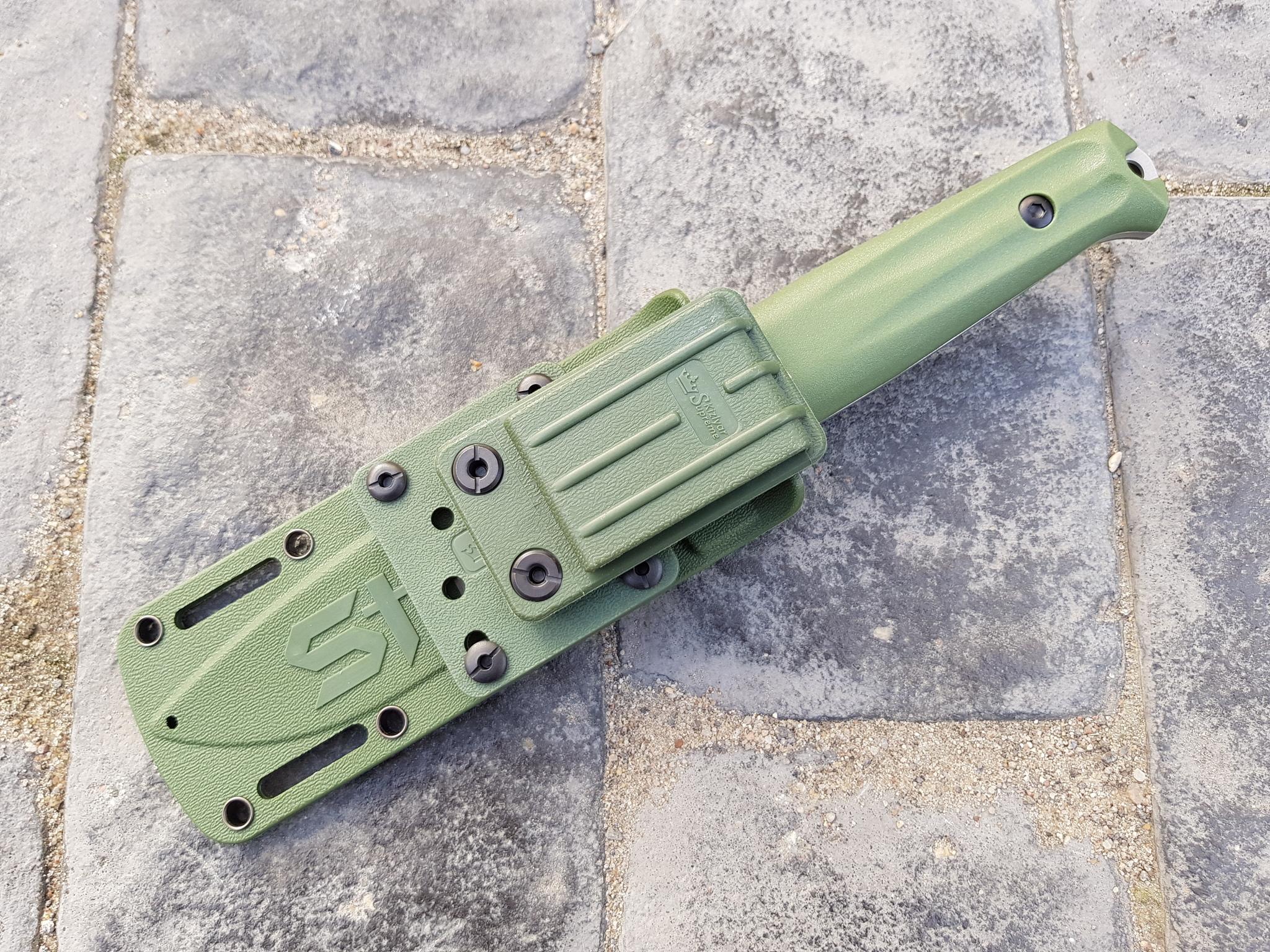 Фото 14 - Тактический нож Sturm AUS-8 S BS SW олива, Кизляр от Kizlyar Supreme