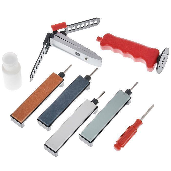 Набор для заточки с держателем угла заточки, керамические камниСтанки для заточки<br>Набор для заточки с держателем угла заточки, керамические камни<br>
