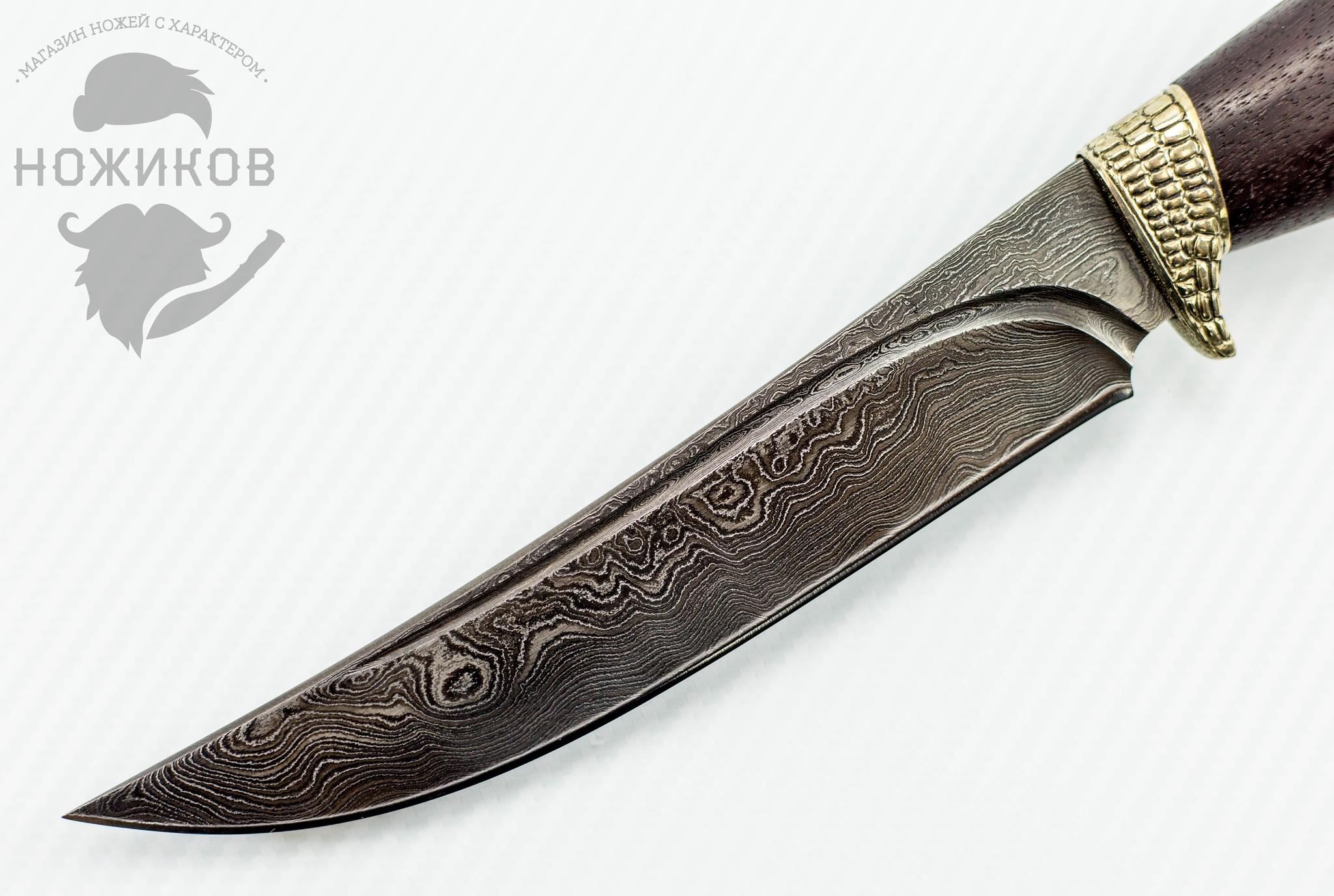 Фото 2 - Авторский Нож из Дамаска №66, Кизляр