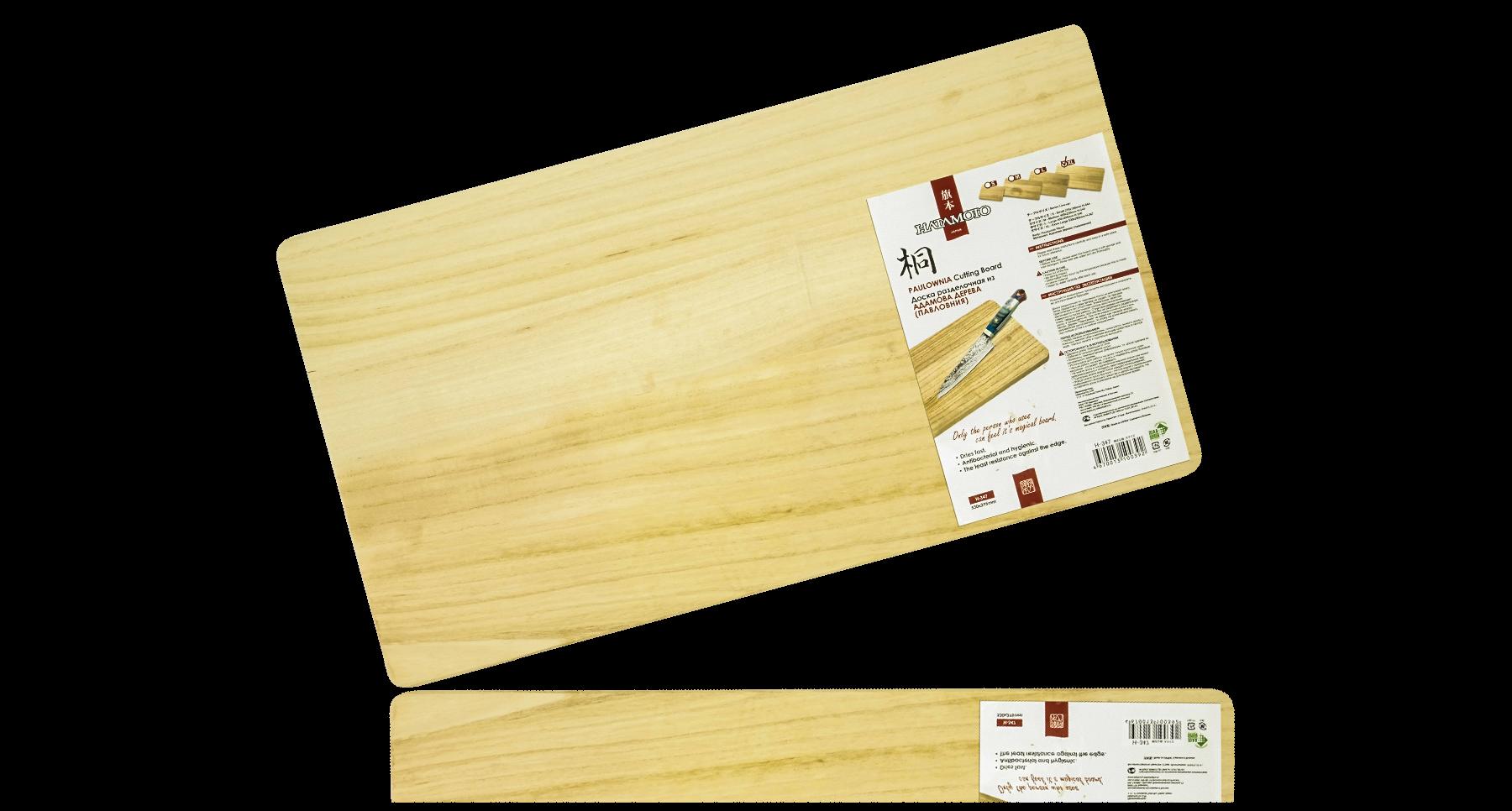 Доска разделочная (L size) 530*295*20ммTojiro<br>Доска разделочная (L size) 530*295*20мм<br>Не впитывает влагу, запах продуктов и сама запаха не отдаёт, по причине практического его отсутствия. Уникальные свойства заключаются в практически полном восстановлении поверхности после работы. Структура дерева напоминает очень твёрдую резину, поэтому Вы не разрезаете разделочную доску, а проминаете её. Ножи гораздо дольше держат заточку. При этом разделочная доска очень лёгкая.<br>Рекомендована производителями Японских ножей.<br>