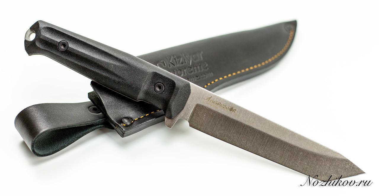 Фото 6 - Тактический нож Aggressor 420HC, Satin+SW, Kizlyar Supreme