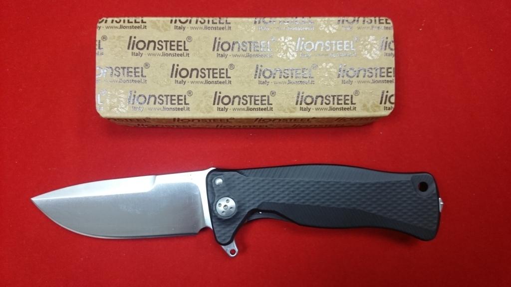 Фото 2 - Нож складной SR-11 Ball-Bearing Flipper, Black Solid® Aluminum Handle, Satin Finish Sleipner Stainless Steel от Lion Steel