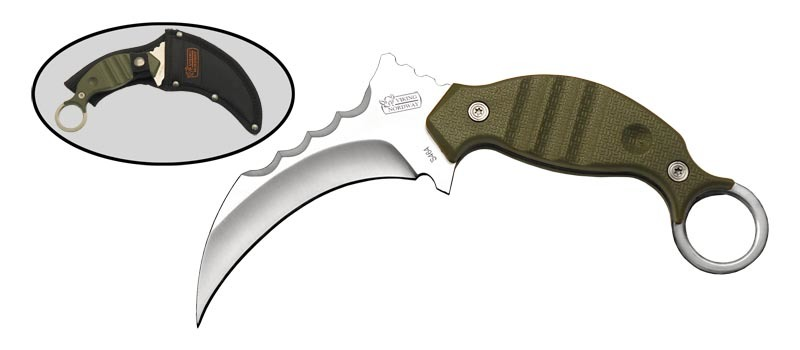 Керамбит S464Керамбит<br>Oбщая длина- 210 мм Длина клинка- 110 мм Толщина клинка- 4,7 Сталь- 420Рукоять- пластик Чехол- кордура<br>