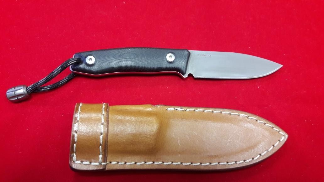 Нож с фиксированным клинком M1, Satin Finish M390 Steel, Black G-10 Handle