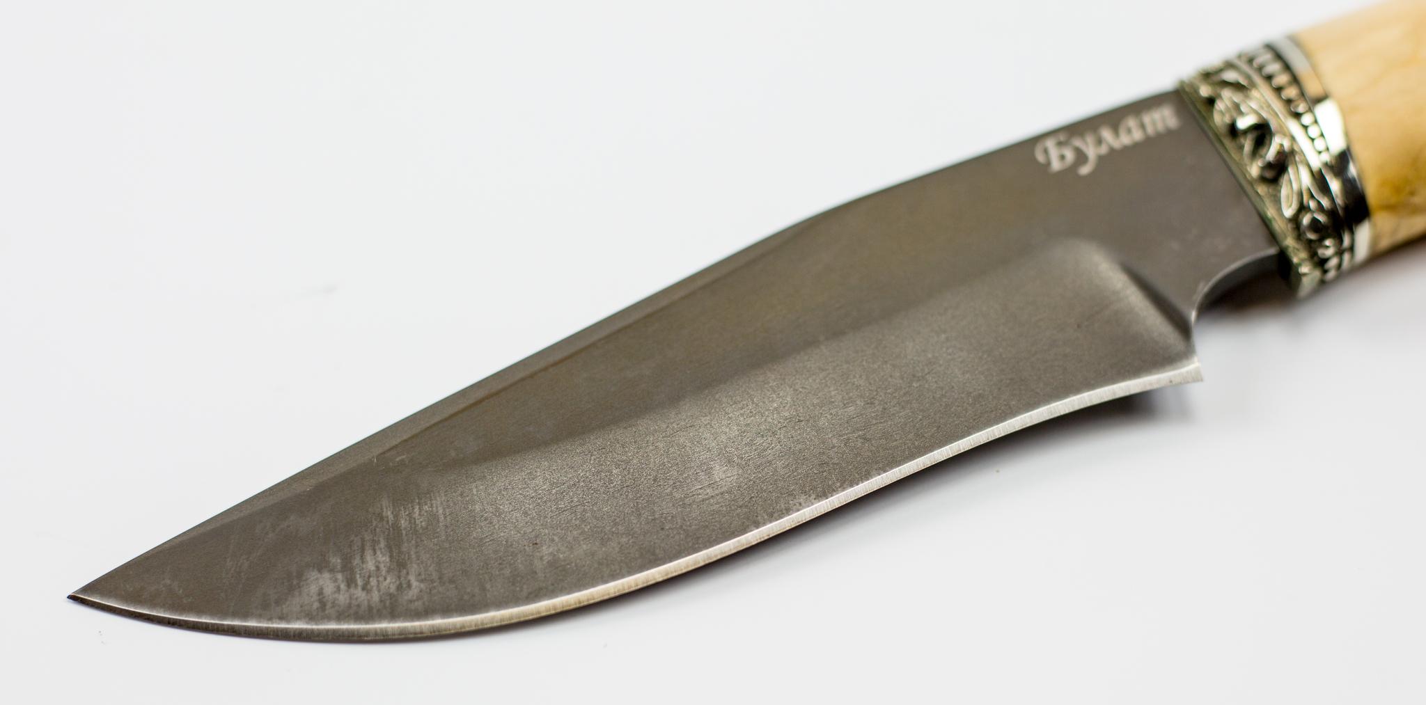 Фото 6 - Нож Универсальный, сталь булат, карельская береза от Промтехснаб