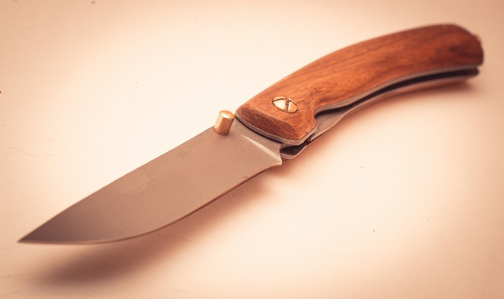 Фото 3 - Складной нож Помор, сталь 95х18, орех от Марычев