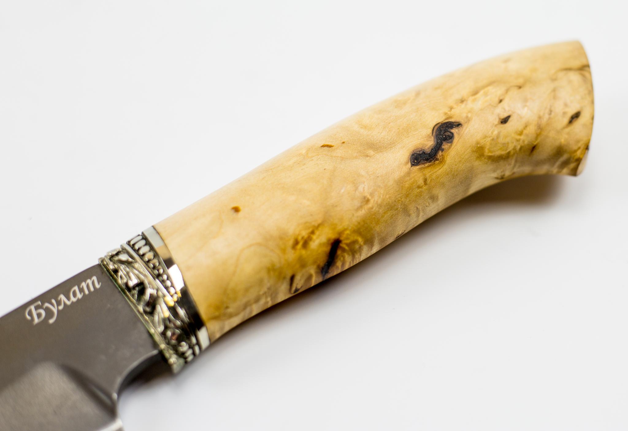 Фото 7 - Нож Универсальный, сталь булат, карельская береза от Промтехснаб