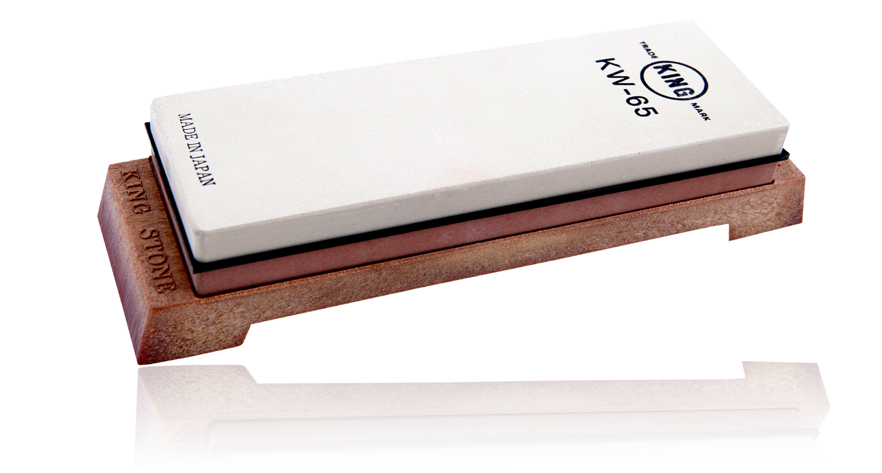 Камень точильный водный комбинированный 185*63*25мм грубый/финишный с подставкой #0800/#4000, King