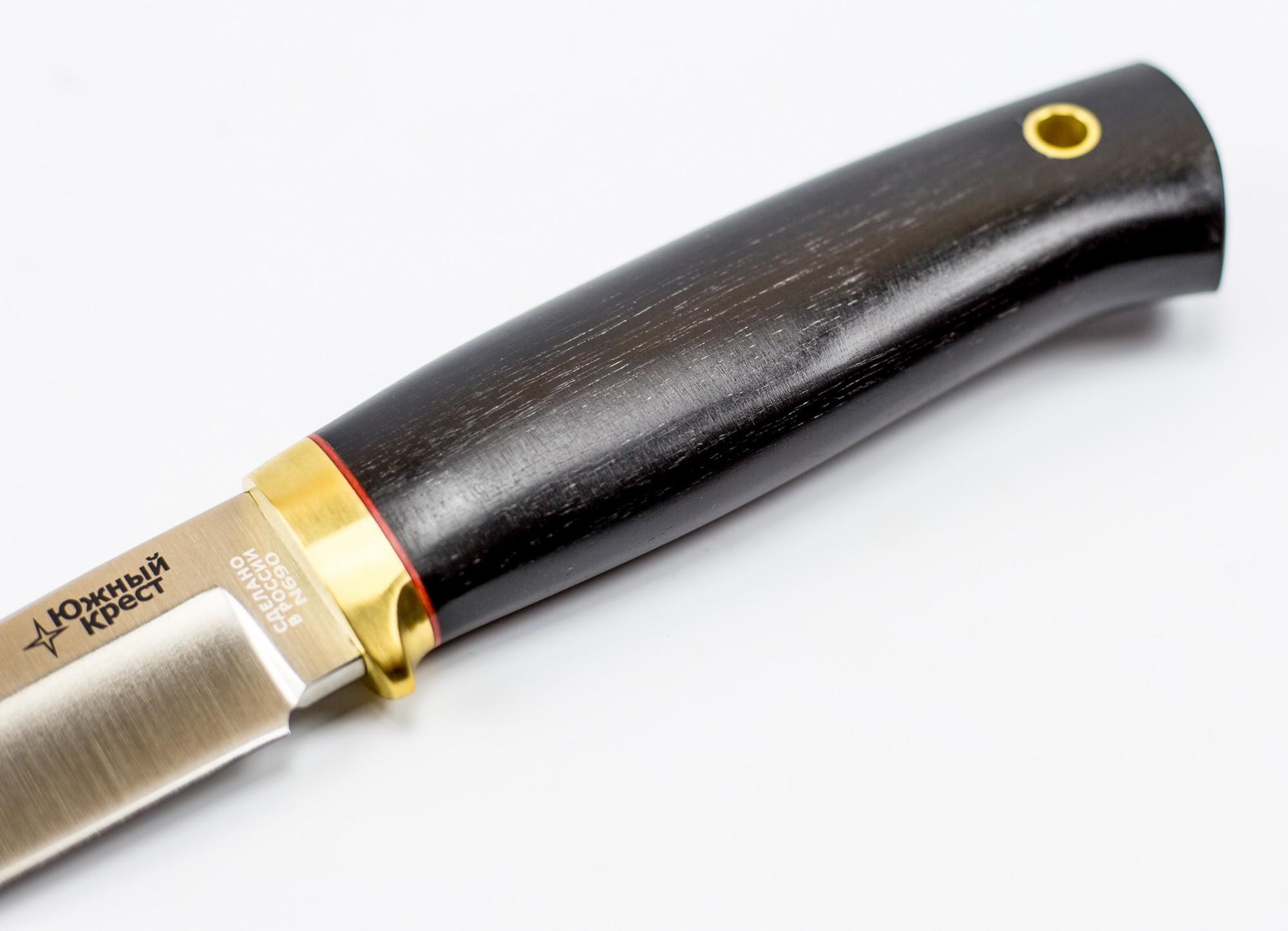 Фото 5 - Нож универсальный Боровой М, N690, Южный Крест, граб