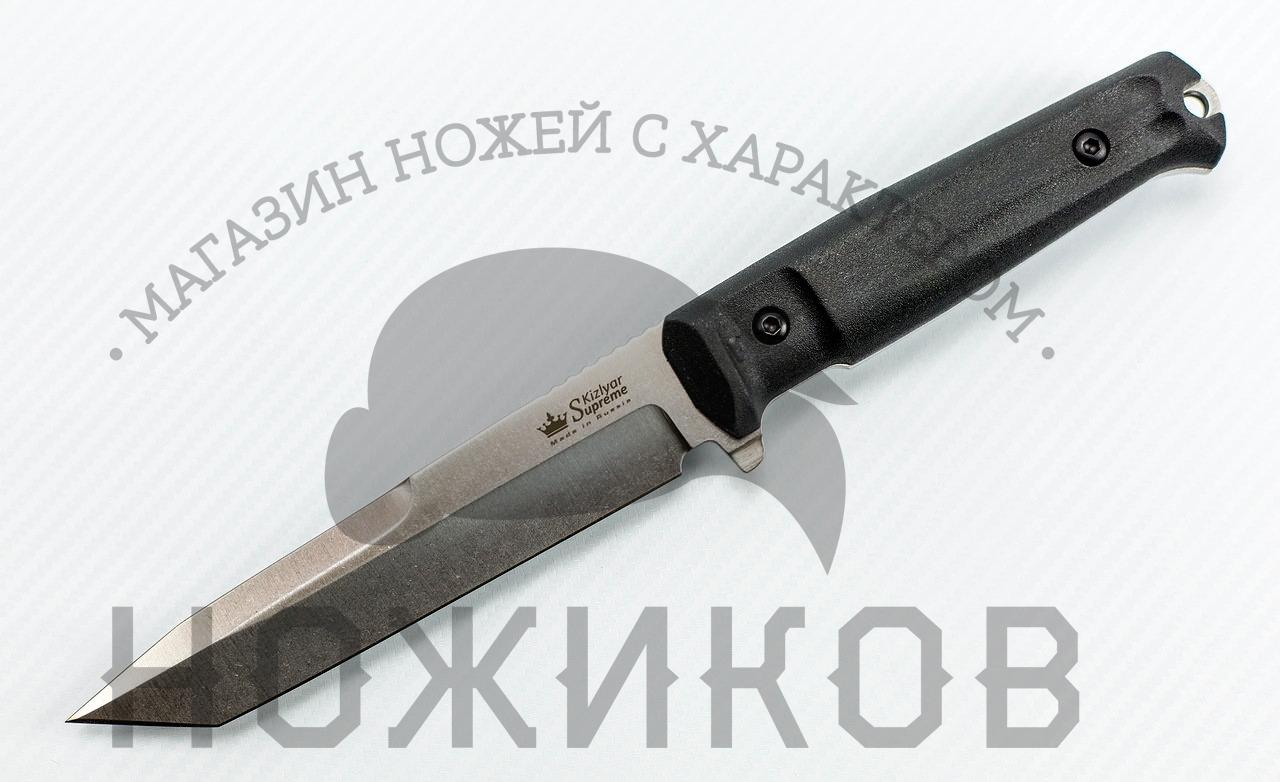 Нож Aggressor D2 S+SW, КизлярНожи Кизляр<br>Аggressor - мощный агрессивный нож является одним из самых ярких представителей новой серии Tactical Echelon, ориентированной на использование в спецподразделениях, а также отлично справляющейся с большинством нужд охотников, спасателей и других групп пользователей, ведь это прежде всего - надежные и функциональные ножи.Одна из главных важных особенностей этих ножей - это наличие мощного подпальцевого упора, часто именуемого гардой, который обычно бывает только на холодном оружии, требующем разрешение на приобретение оружия. Tactical Echolon не относятся к холодному оружию и приобретаются свободно.Ножи серии Tactical Echelon отличаются формами клинков, но общей для них остается форма рукояти, так как на взгляд дизайнеров Kizlyar Supreme для данной серии она обладает совершенной эргономикой.<br>Комплектация Нож, чехол с многофункциональным креплением Molle, темляк, международный гарантийный талон, подарочная упаковка<br>