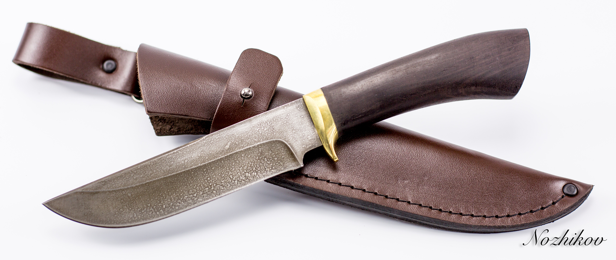 Фото 6 - Нож Хищник-2, сталь ХВ5, граб от Промтехснаб