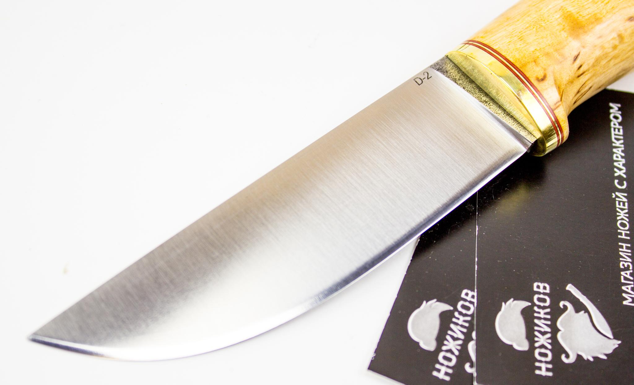 """Нож Шмель, сталь D2, карельская береза от Магазин ножей """"Ножиков"""""""