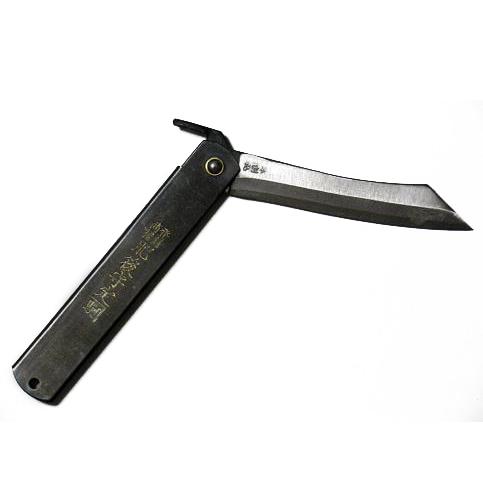 Нож складной, клинок 80мм Hight carbon 3 слоя, рукоять черная, Nagao HigonokamiРаскладные ножи<br><br>