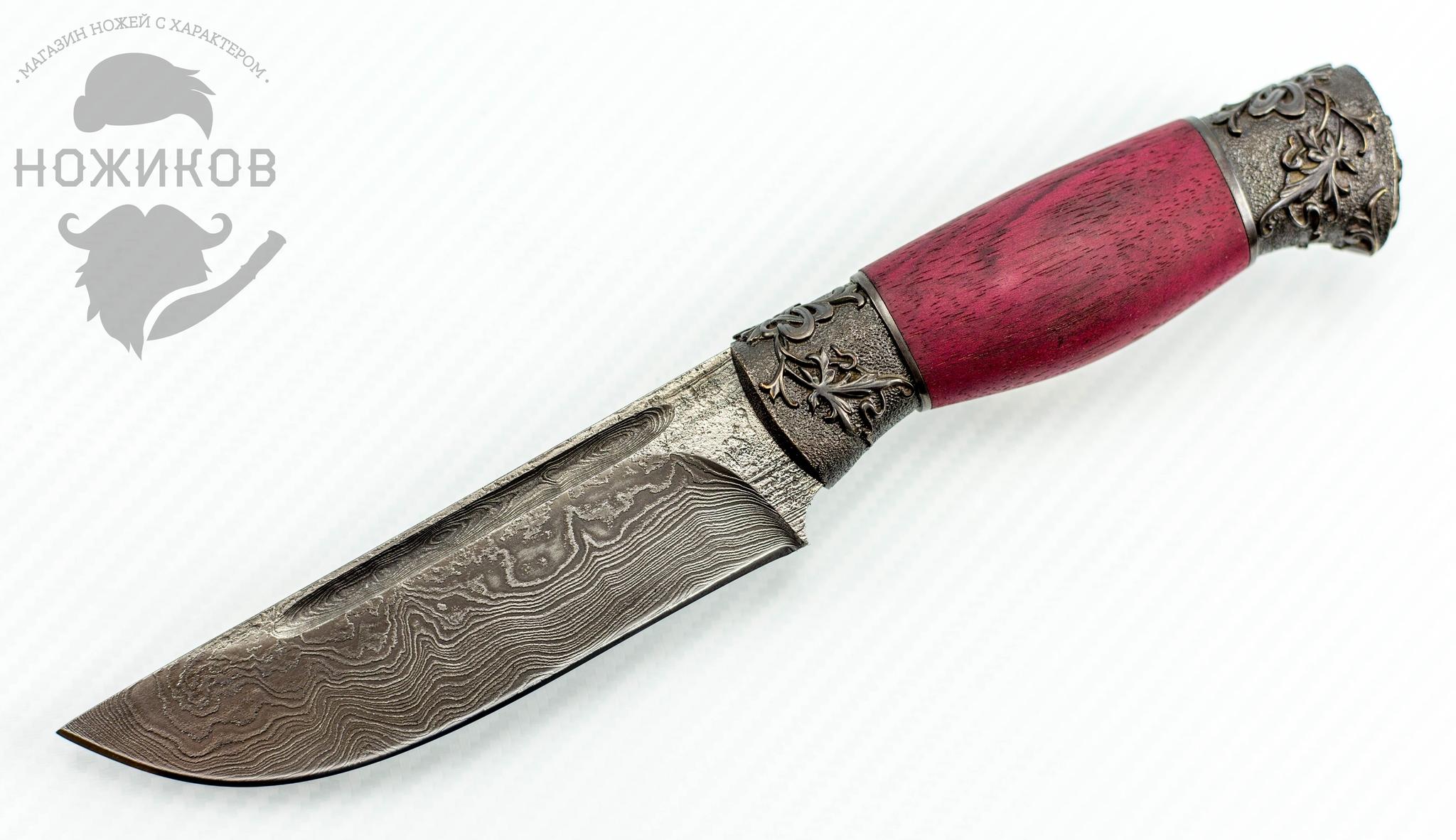 Авторский Нож из Дамаска №71, КизлярНожи Кизляр<br><br>