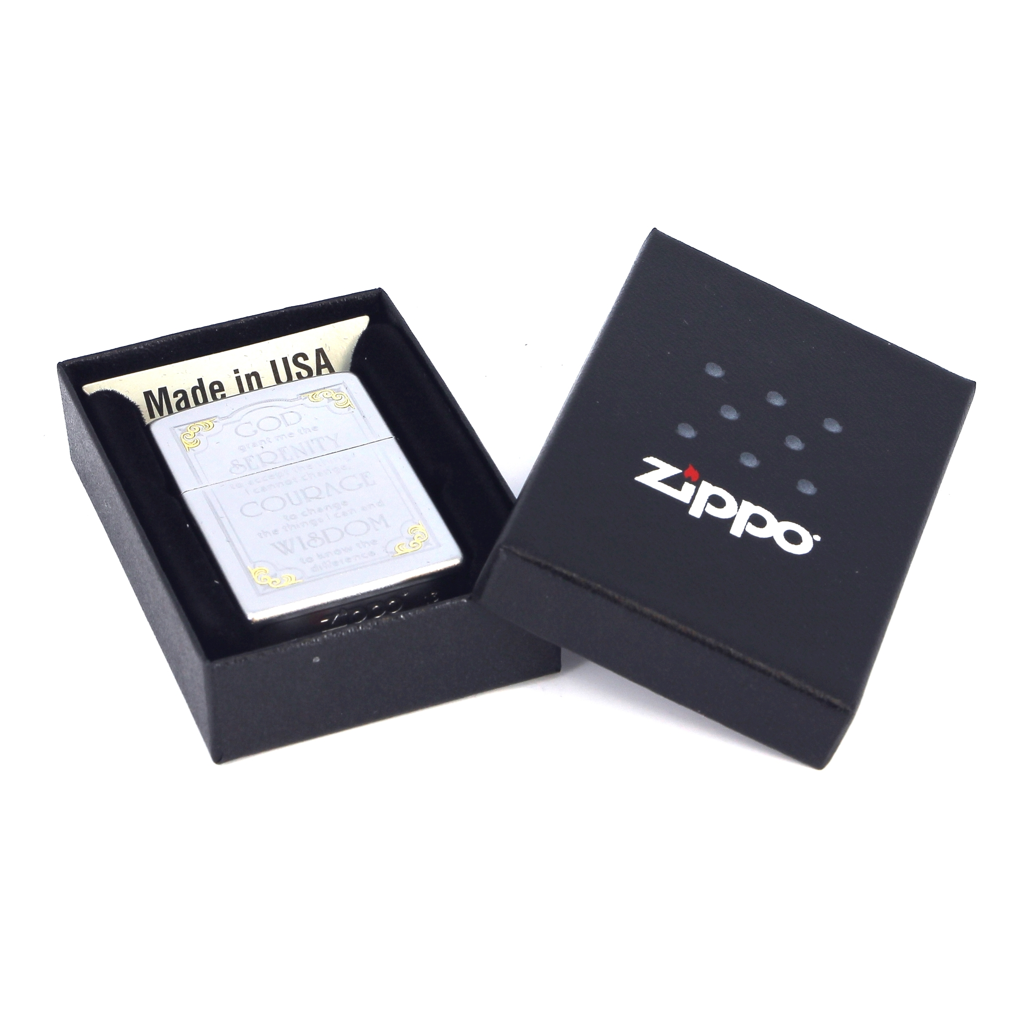 Фото 2 - Зажигалка ZIPPO Serenity, латунь с покрытием Satin Chrome™, серебристый, матовая, 36х12x56 мм