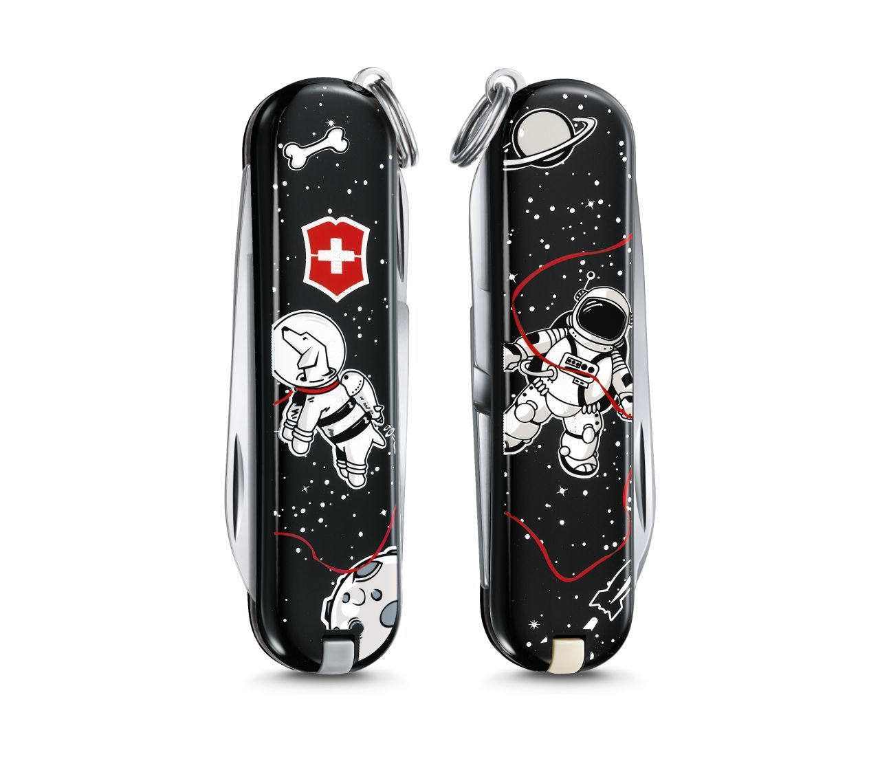 Складной нож Victorinox Classic limited edition 2017 Space Walk (0.6223.L1707) 58мм 7функцийШвейцарские армейские ножи Victorinox<br>Материал: высококачественная нержавеющая стальРукоять: глянцевый нейлонВес: 26.1г.<br>ФУНКЦИИ:<br><br>лезвие<br>ножницы<br>пилочка для ногтей с<br>отверткой 2.5 мм<br>кольцо для подвеса<br>зубочистка<br>пинцет<br>
