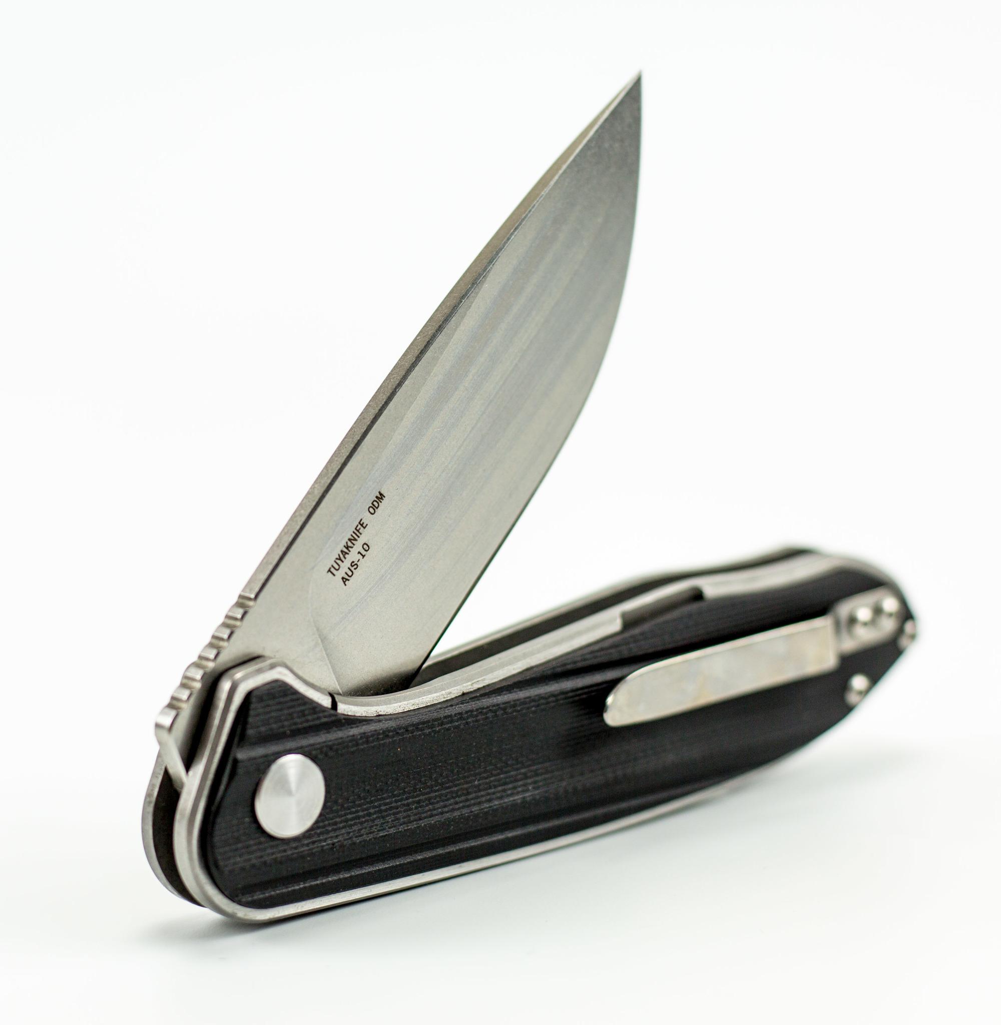Фото 11 - Складной нож Tuya Knives Talisman Black, сталь AUS-10