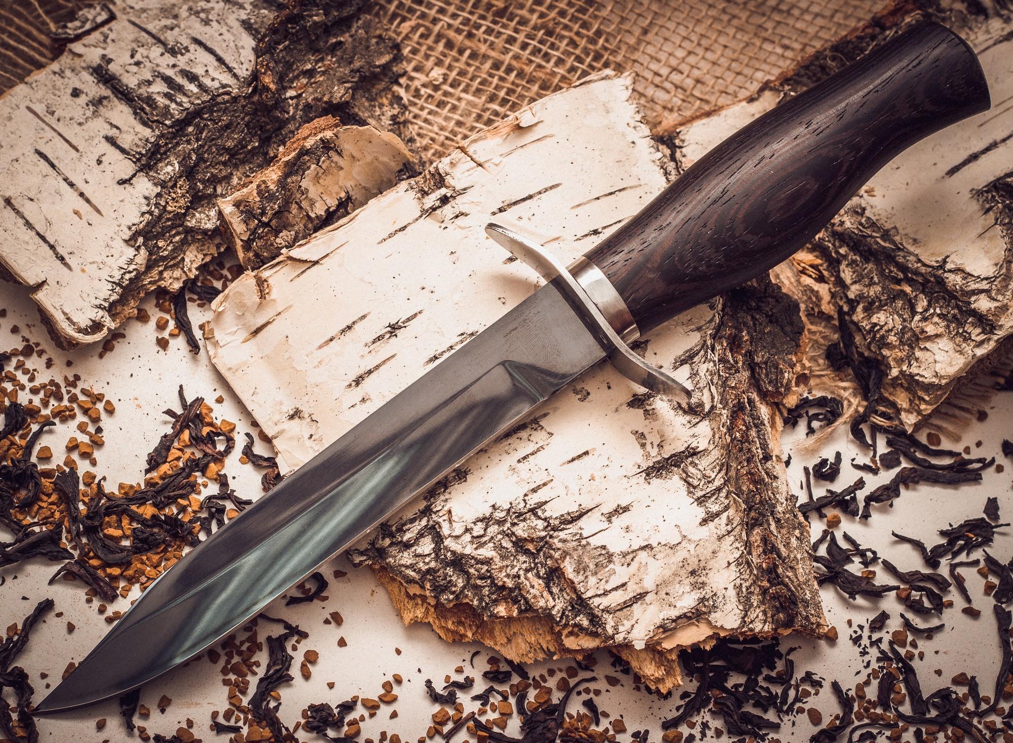 Нож разведчика НР-40, сталь 65г, венге