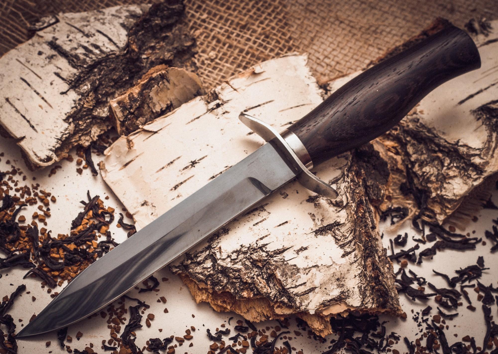 Нож разведчика НР-40, сталь 65г, венге от Фабрика Баринова