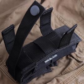 ЧЕХОЛ ДЛЯ СКЛАДНОГО НОЖА MR. BLADE (15 СМ)Mr.Blade<br>Чехол выполнен из непромокаемого материала, в нижней части расположено отверстия для слива воды. Чехол оснащен петлями-молле, которые позволяют разместить нож на тактическом рюкзаке, разгрузочном жилете или брючном ремне. Чехол можно подвесить горизонтально или вертикально.Длина 15 см.<br>
