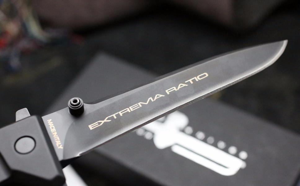 """Складной нож Nemesis Black (Ruvido Handle) от Магазин ножей """"Ножиков"""""""