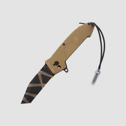 НОЖ СКЛАДНОЙ HF1 DROP POINT, DESERT WARFAREРаскладные ножи<br>Складной нож HF1, клинокпустынный в полоску, сталь N690, рукоять пустынный антикородал, клипса, чехол песочный нейлон на липучке<br>