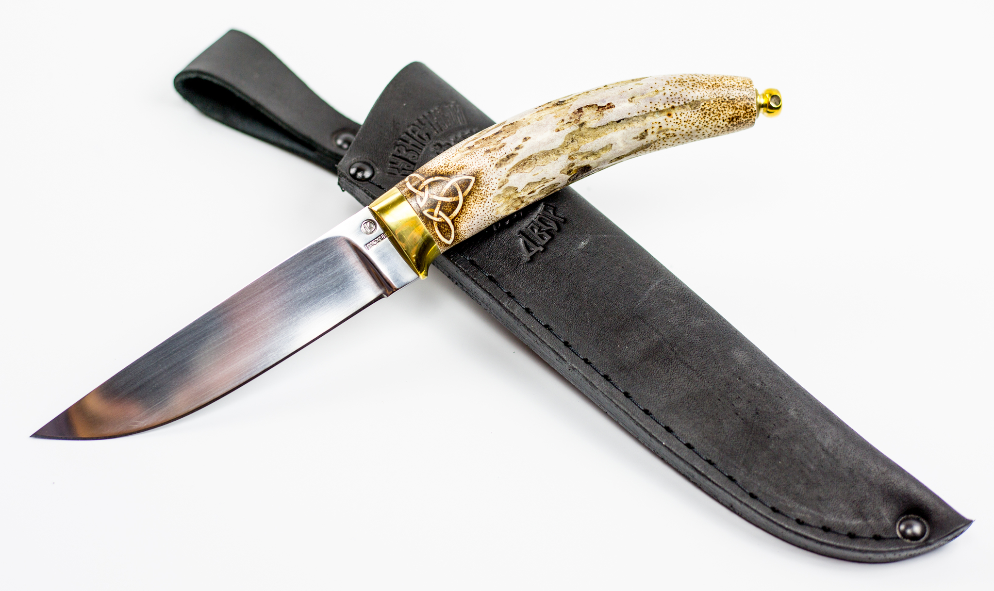 Фото 6 - Нож Грибник, сталь 110Х18, рукоять рог от Ножи Крутова