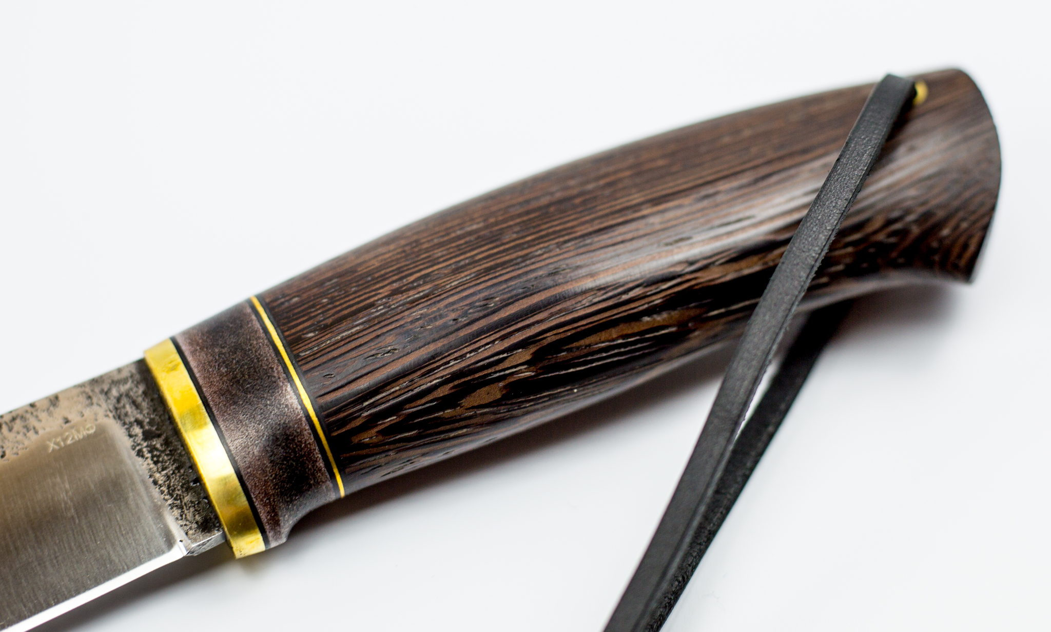 Нож Барбус, сталь Х12МФ, самшит, пирография