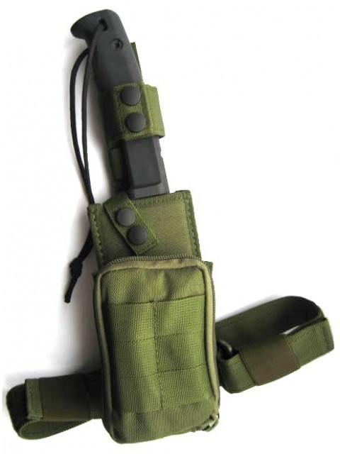 Фото 2 - Нож с фиксированным клинком + набор для выживания Extrema Ratio Selvans, Green Sheath (зелёный чехол), сталь Bhler N690, рукоять прорезиненный форпрен