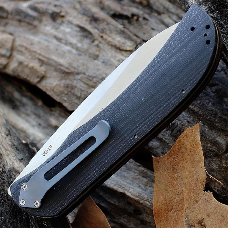 Фото 2 - Складной нож Exskelibur 1 VG-10, Boker Plus 01BO032, сталь VG-10 Satin Plain, рукоять стеклотекстолит G10, чёрный