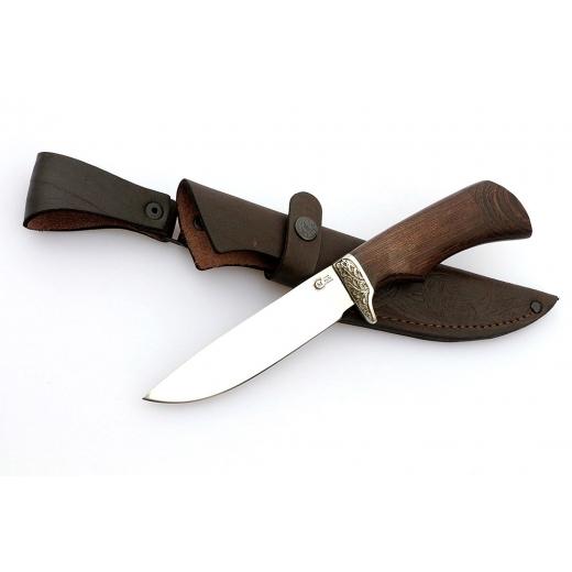 Кованый нож из нержавеющей стали 95х18 «Лазутчик»Ножи Ворсма<br>Сталь 95Х18, нержавеющаяРукоять венгеОбщая длина, мм 250Длина клинка, мм 132,6Ширина клинка, мм 30,2Толщина клинка, мм 2,2Длина рукояти, мм 117,4Толщина рукояти, мм 21,5Твёрдость клинка, HRC 60<br>Этот точно станет для вас самым любимым: в нем сочетаются невероятная прочность, легкость и удобство. Не медлите, успейте купить нож из нержавеющей стали 95х18 ручной ковки «Лазутчик».<br>