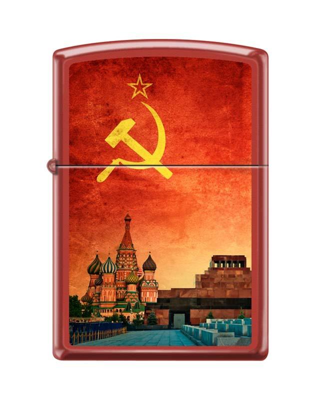 Фото - Зажигалка ZIPPO Красная Москва, латунь/сталь с покрытием Red Matte, красная, матовая, 36x12x56 мм