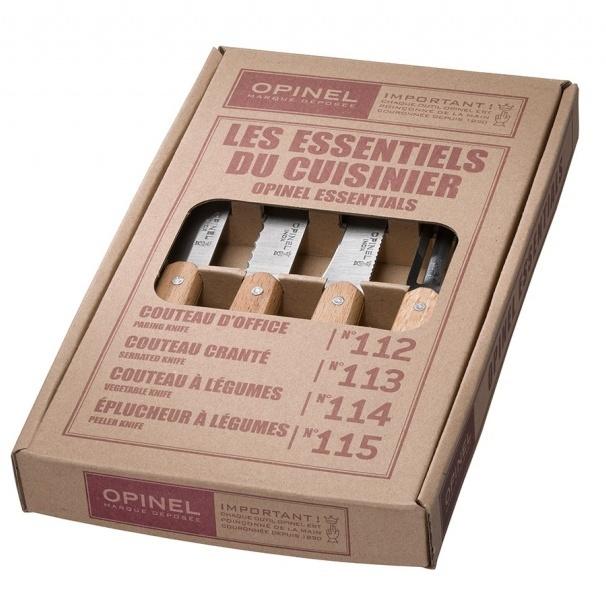 Набор кухонных ножей Opinel VRI Les Essentiels из 4-х штук