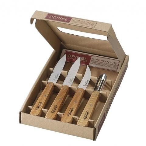 Набор кухонных ножей Opinel VRI Les Essentiels из 4-х штук - Nozhikov.ru
