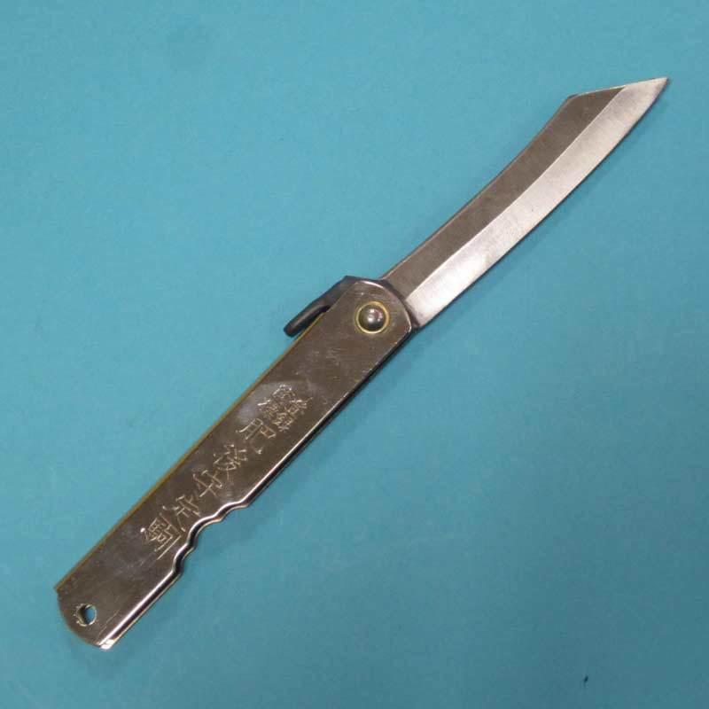 Нож складной, клинок 80мм Hight carbon, рукоять белая, Nagao Higonokami