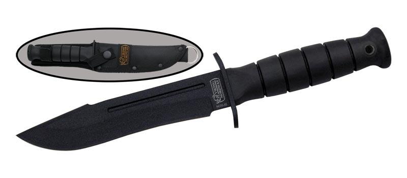 Тактический нож H099-48420<br>Oбщая длина- 264 мм Длина клинка- 149 мм Толщина клинка- 2,3 Сталь- 420Рукоять- резинопластик Чехол- нейлон<br>