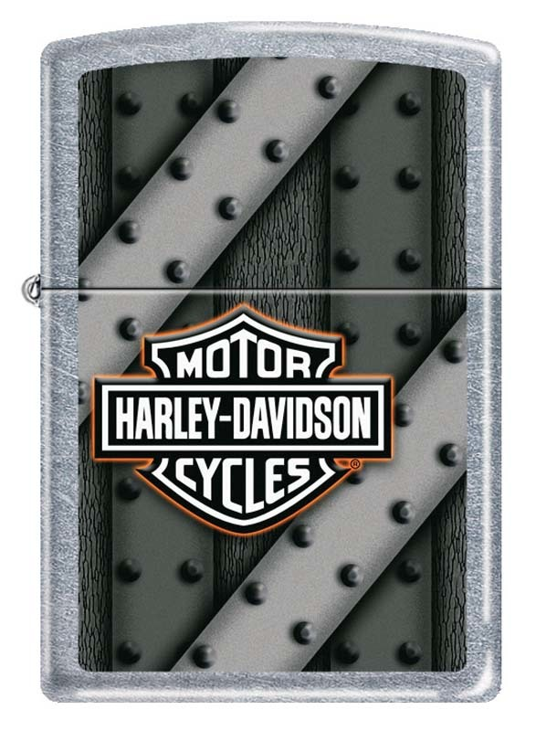 Зажигалка ZIPPO Harley-Davidson®, с покрытием Street Chrome™ universal highway footpeg footrest for harley 32mm engine guard crash bar chrome kawasaki suzuki bar motorcycle