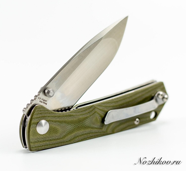 Фото 8 - Складной нож Kizer Cutlery Vanguard V3 Vigor, сталь VG-10, рукоять G10