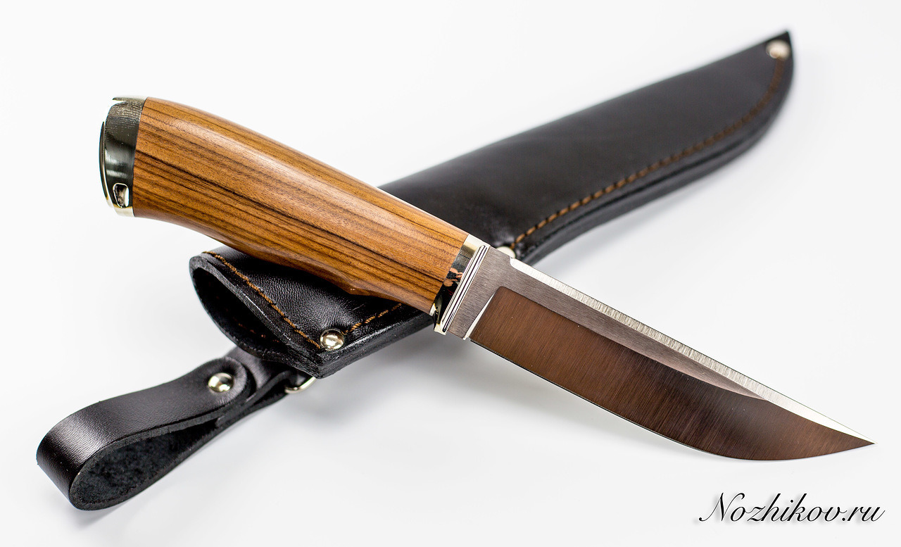 Нож Рабочий N11 из порошковой стали ElmaxНожи Павлово<br>Сталь: ElmaxРукоять: рукоять палисандр сантос, литье мельхиорДлина клинка (мм.): 130 Наибольшая ширина клинка (мм.): 28 Толщина обуха клинка (мм.): 3,5-3,6 Толщина подвода (мм.): 0,3-0,5 Твердость стали: 60-61Hrc Общая длина ножа (мм.): 255 Поверхность клинка: Сатин Спуски клинка: Прямые<br>