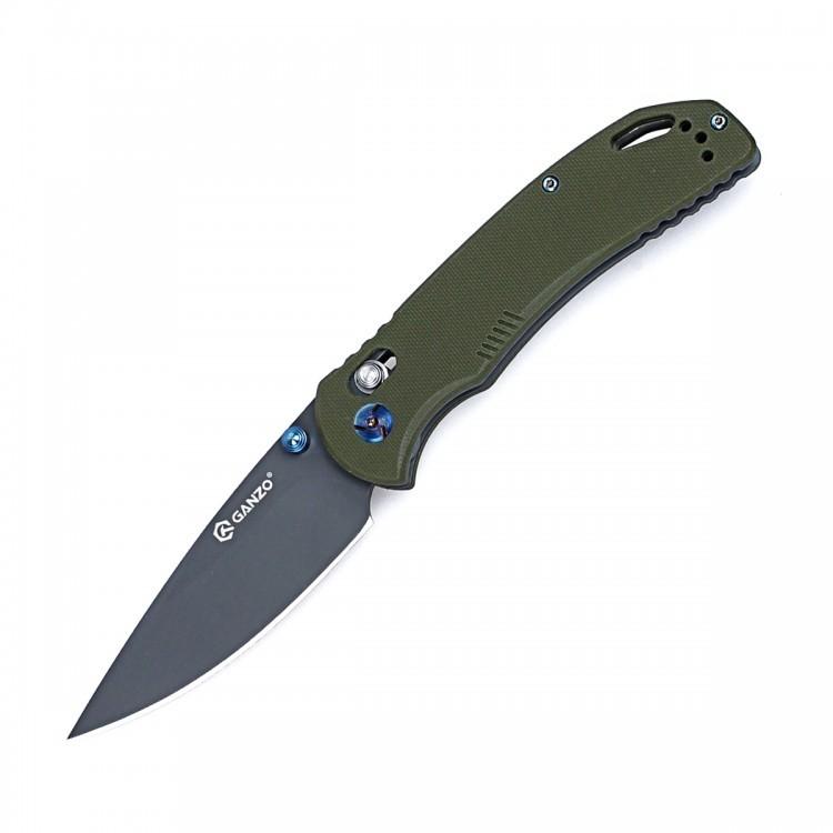 Складной нож Ganzo G7533-GR, зеленый нож ganzo g620b 2 черный с травлением