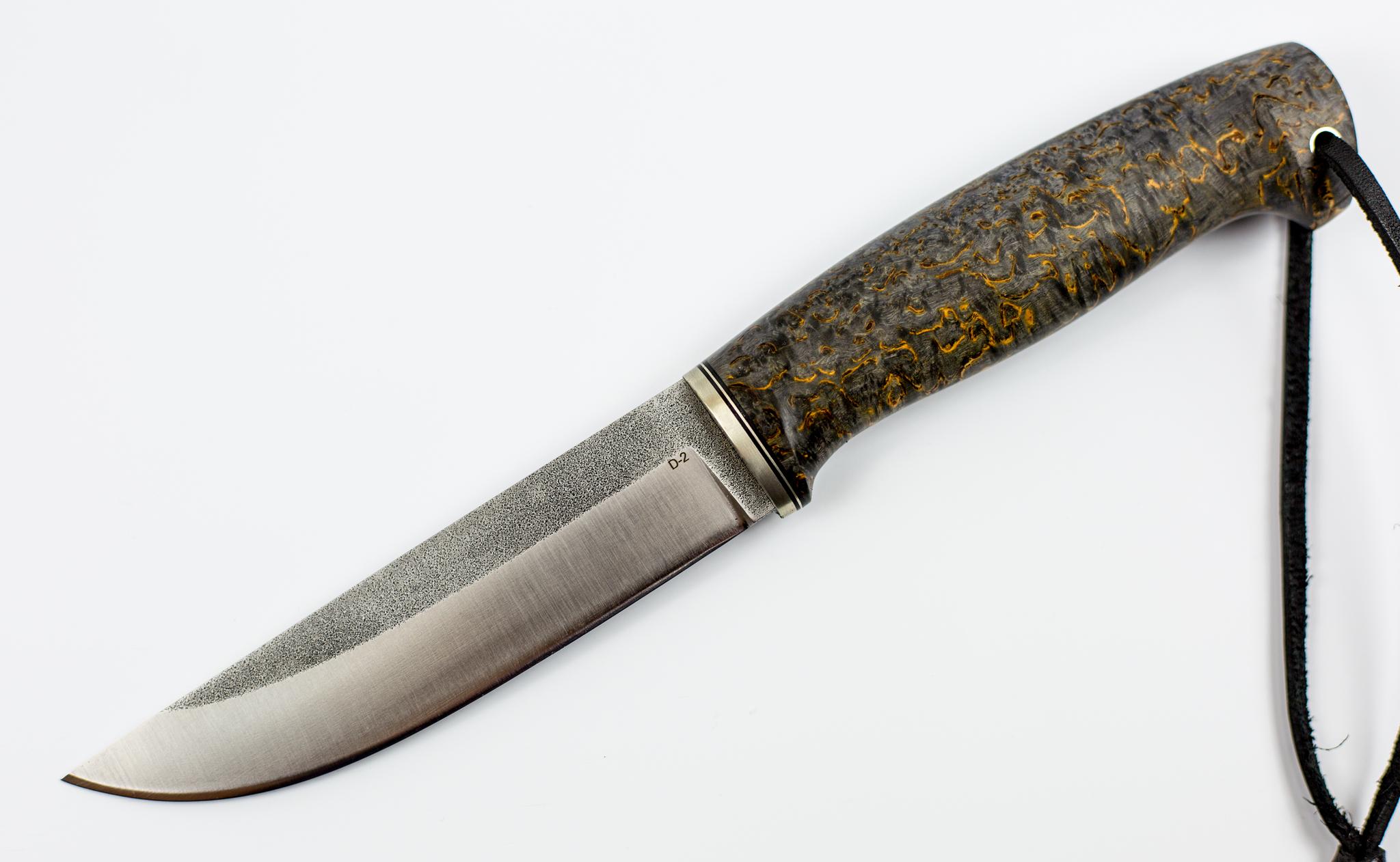 Нож Лиман, сталь D2, стабилизированная карельская береза