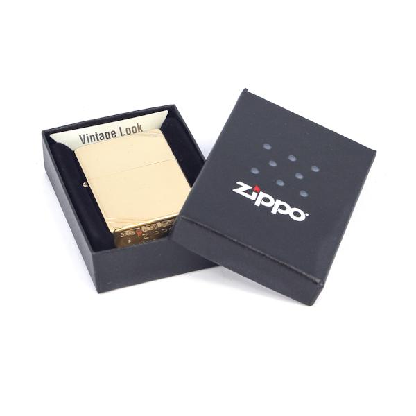 Фото 3 - Зажигалка ZIPPO Vintage™ с покрытием High Polish Brass, латунь/сталь, золотистая, 36x12x56 мм