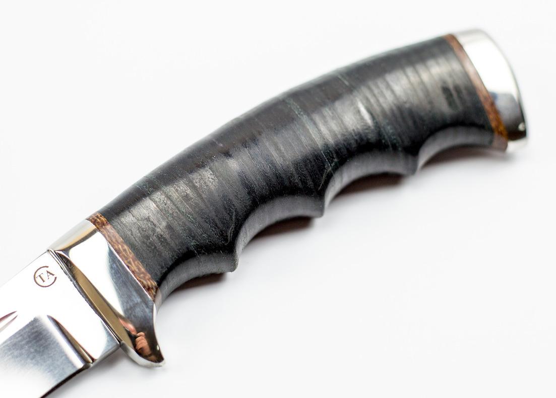 Фото 8 - Нож Аркан Р в коже, 95Х18 от Титов и Солдатова