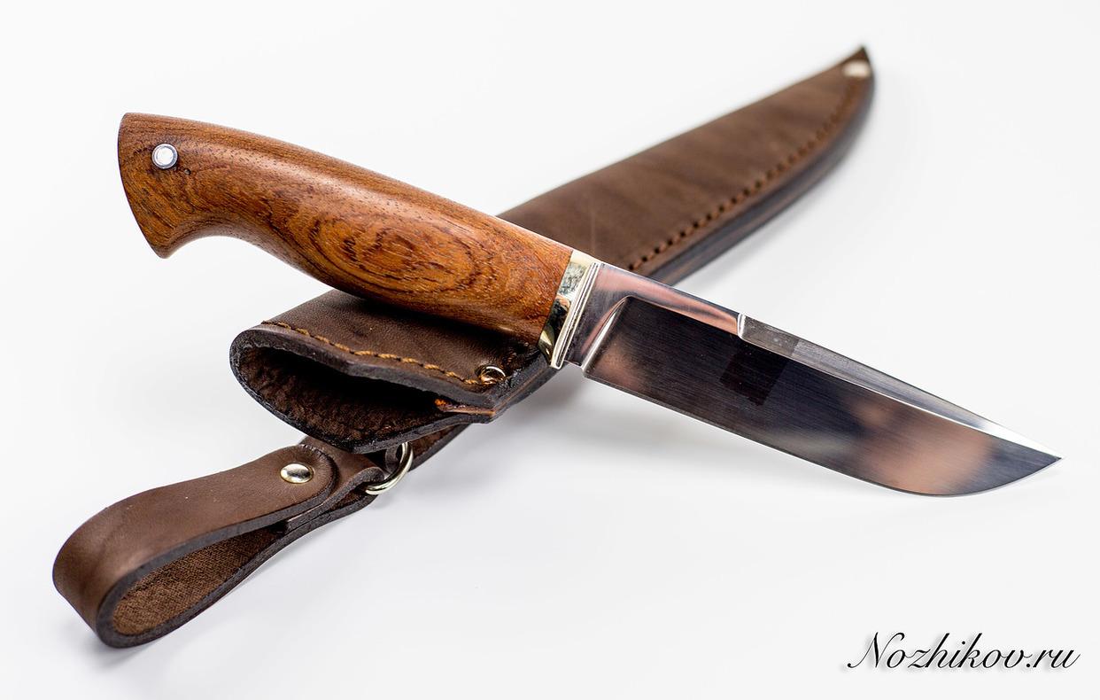Нож Рабочий N11 из кованой стали 9ХСНожи Павлово<br>Сталь: 9ХСРукоять: рукоять бубинга, литье мельхиорДлина клинка (мм.): 123 Наибольшая ширина клинка (мм.): 28 Толщина обуха клинка (мм.): 3.9 Толщина подвода (мм.): 0,4-0,7 Твердость стали: 61-63Hrc Общая длина ножа (мм.): 256 Поверхность клинка: Полировка Спуски клинка: Вогнутая линза<br>