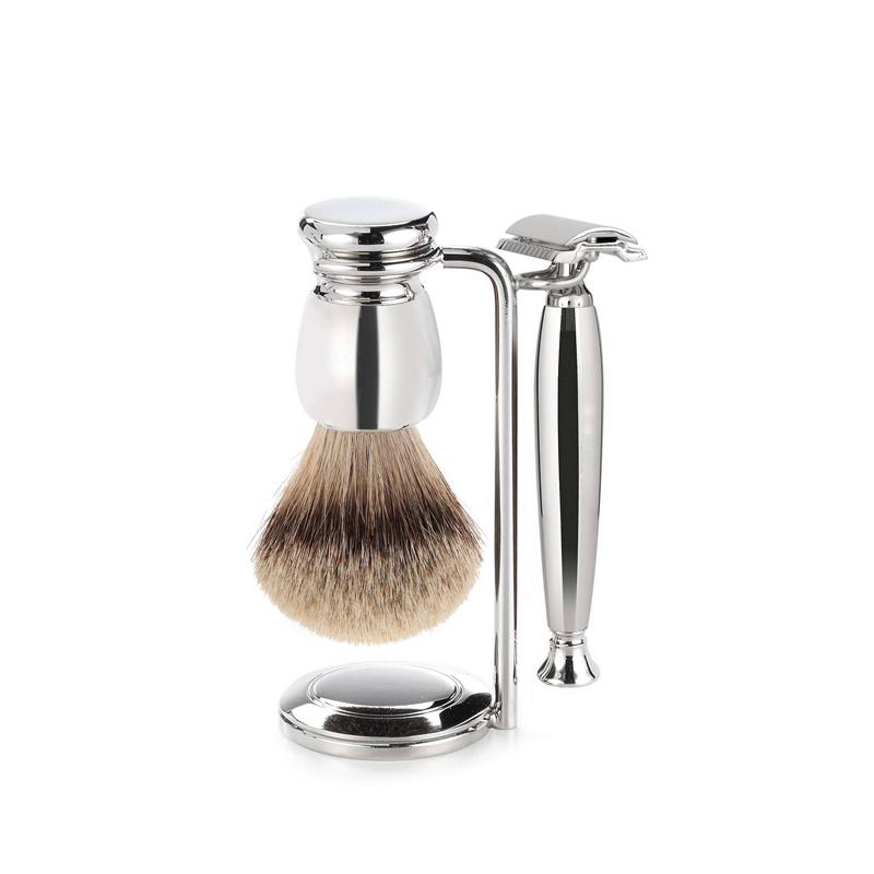 Набор бритвенный Mondial ST-550-LST1, никель бритвенный набор mondial станок помазок чаша подставка оливковое дерево 1281852