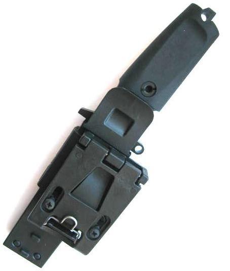Нож с фиксированным клинком Fulcrum Combat. Plain EdgeОхотнику<br>Нож с фиксированным клинком Fulcrum Combat. Plain Edge, компактный, без серейтера, клинок треугольный, черный, рукоять черный прорезиненый форпрен, чехол черный пластик.<br>