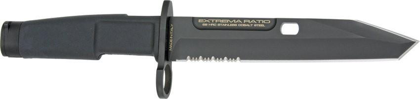 Нож с фиксированным клинком Fulcrum Mil-Spec Bayonet RangerВоенному<br>ННож с фиксированным клинком Fulcrum Mil-Spec Bayonet Ranger, сталь N-690, клинок черный, треугольный, с отверстием, 1/3 серейтор, рукоятка черный пластик, заглушка под ружье,чехол черный пластик обшит мягкой камуфляжной кардурой, дополнительно гарда с кольцом.<br>