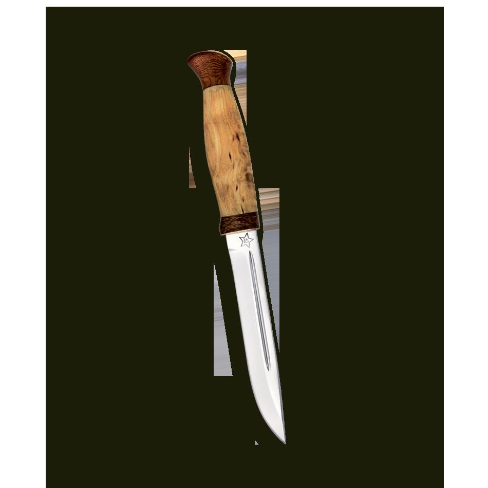 Нож Финка-3, АиР, карельская береза, 100х13м