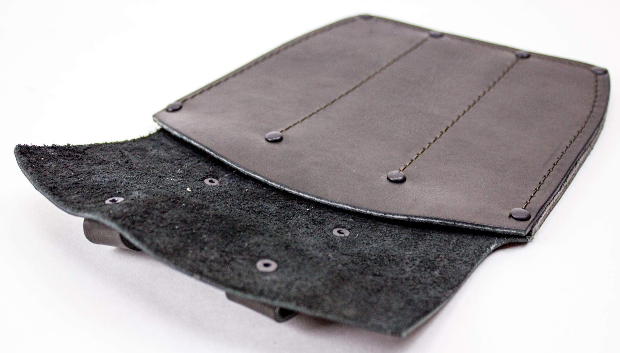 Фото 2 - Ножны-чехол для 3-х метательных ножей кожаные, черные