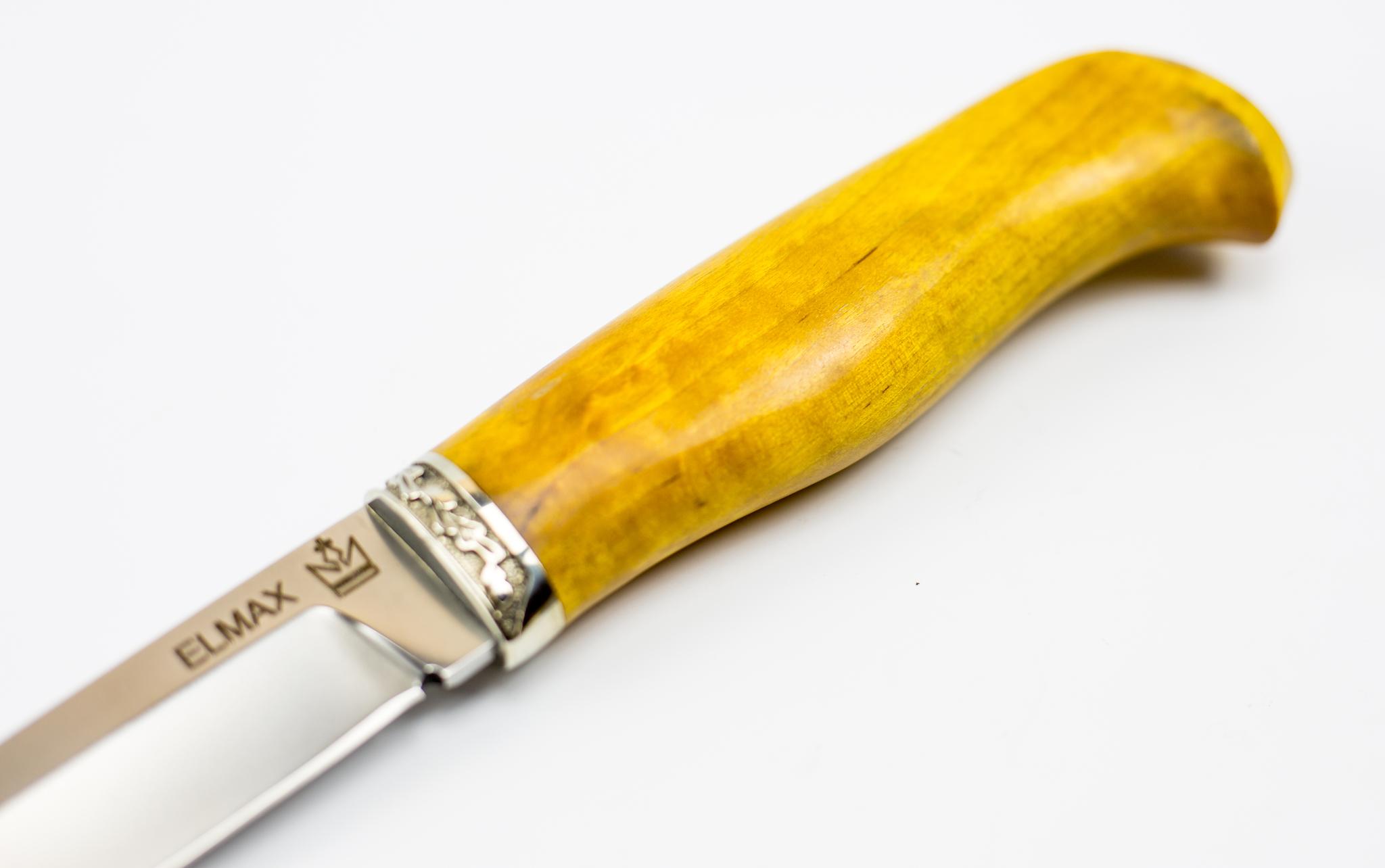 Нож Игла, ELMAX, карельская береза